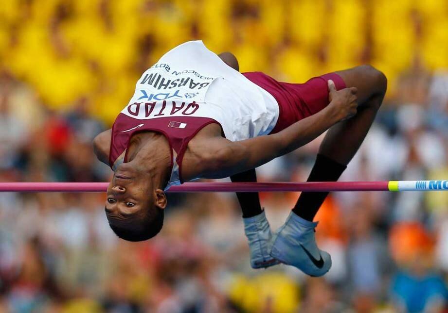 Le Qatari Barshim, tête d'affiche du concours de la hauteur.