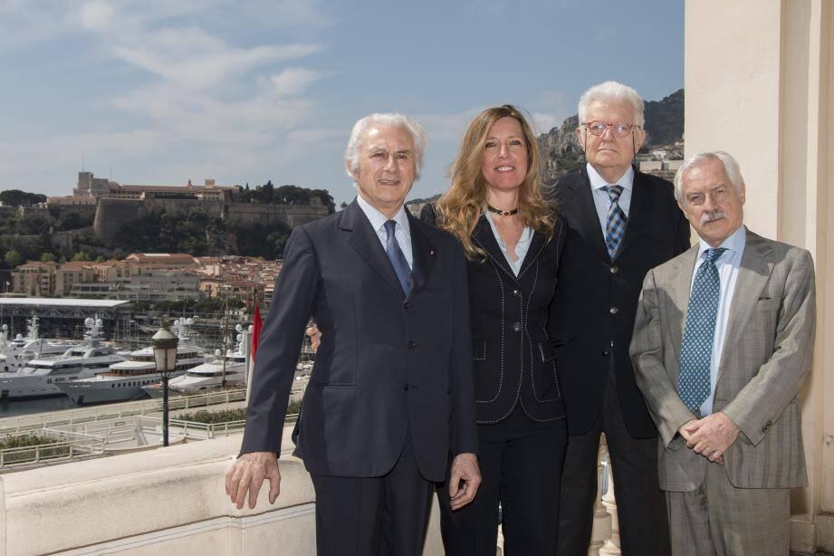 Le comité organisateur de l'événement (de gauche à droite) : Adriano Ribolzi, Marietta Vinci-Corsini, Louis Toninelli, et Alfredo Pallesi.(DR)