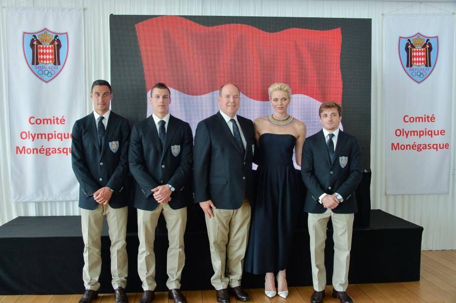 La présentation des athlètes s'est déroulée hier au Yacht-club de Monaco, en présence du prince Albert II et de la princesse Charlène.