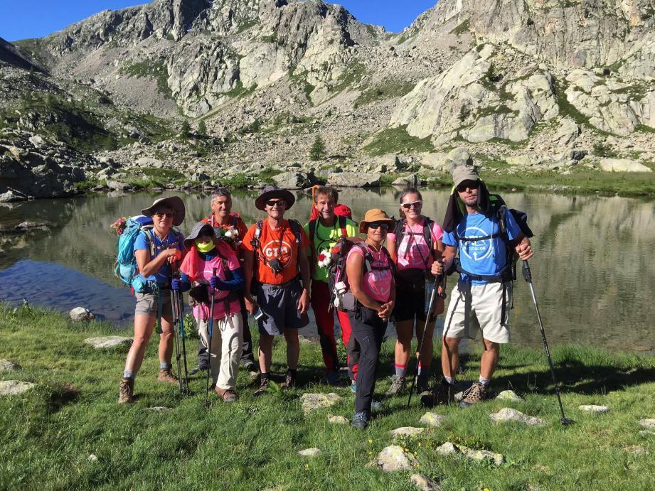Les randonneurs ont profité de paysages exceptionnels durant leurs seize jours au cœur du Mercantour.(DR)