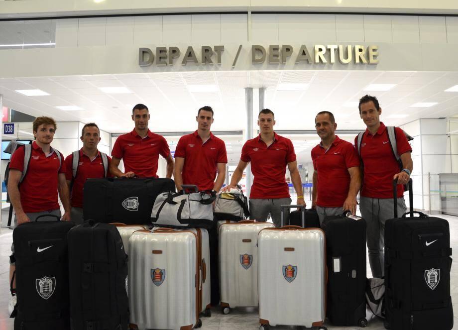 Les représentants de la Principauté juste avant leur départ pour Rio.