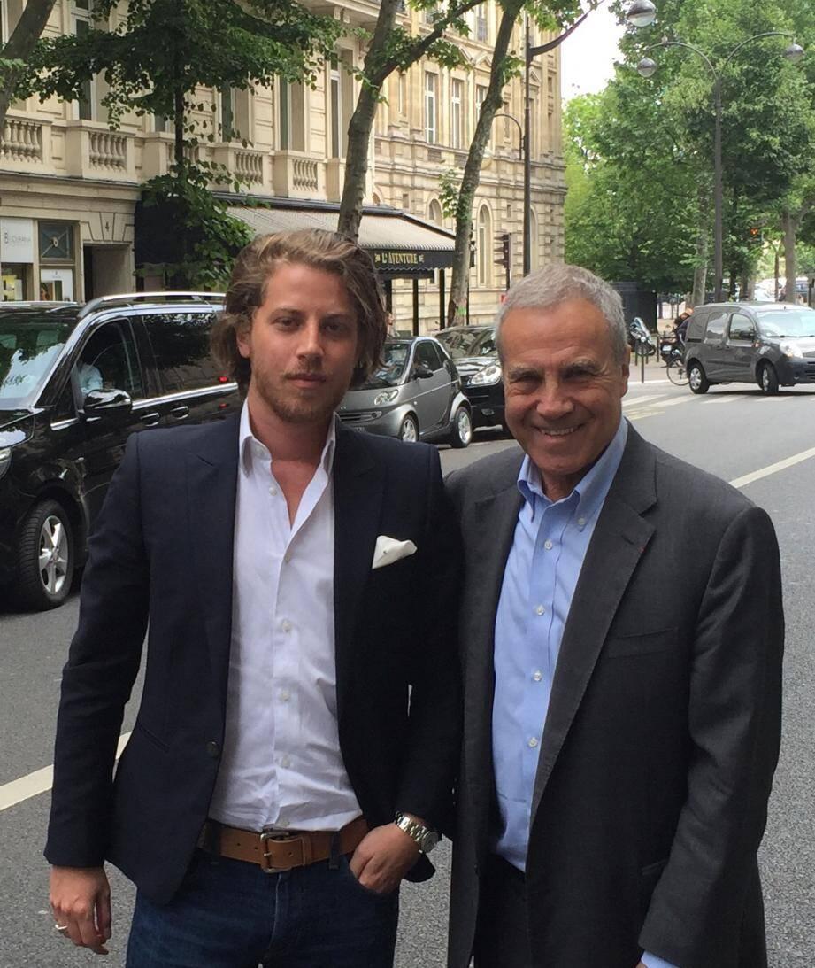 Thierry (à droite) et Nicolas Hesse seront aux commandes du  premier Salon international de l'automobile « propre ».(DR)