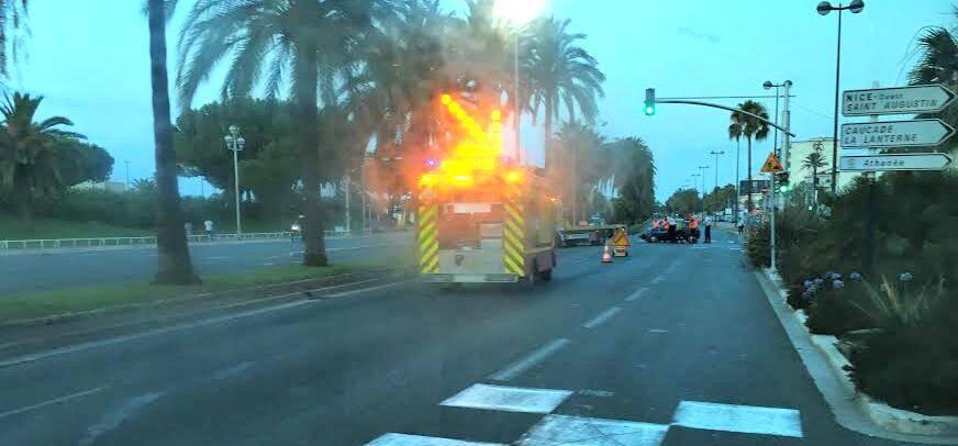 Accident Promenade des Anglais Nice
