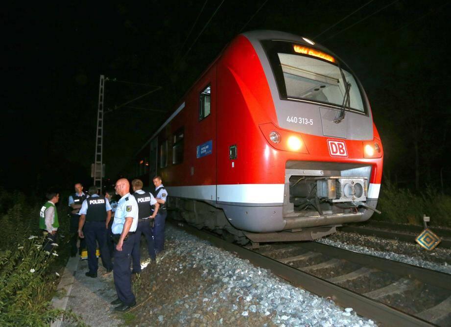 Agression à la hache dans un train en Allemagne.