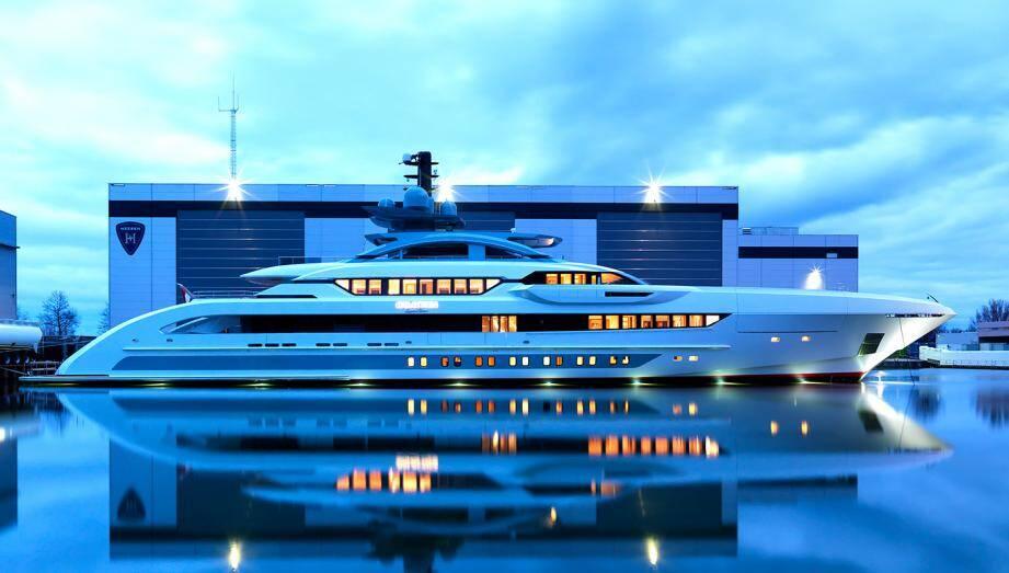 Galactica Super Nova, le plus gros bateau lancé par Heesen Yacht