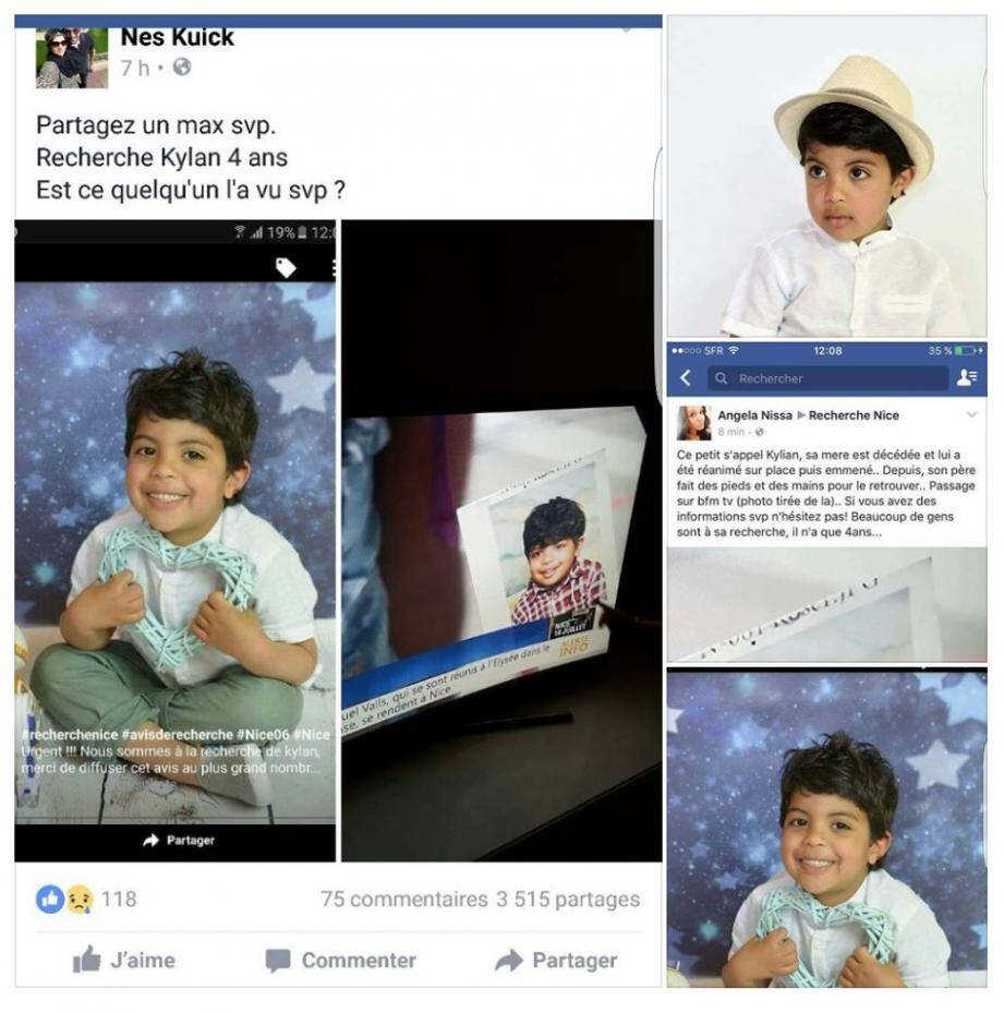 Kaylan, 4 ans, porté disparu depuis jeudi soir.