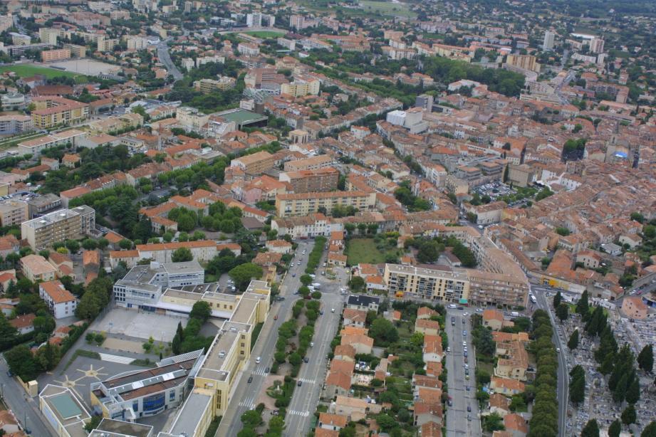Vue aérienne de la cité du Dragon