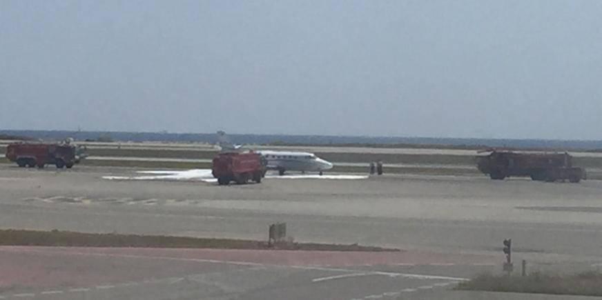 Le moteur d'un avion privé a pris feu ce lundi vers midi sur le tarmac de l'aéroport de Nice-Côte d'Azur