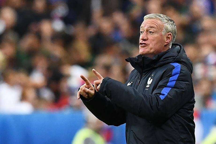 France's coach Didier Deschamps reacts during the Euro 2016 quarter-final football match between France and Iceland at the Stade de France in Saint-Denis, near Paris, on July 3, 2016.France beat Iceland 5-2.  / AFP PHOTO / FRANCK FIFE FBL-EURO-2016-MATCH48-FRA-ISL