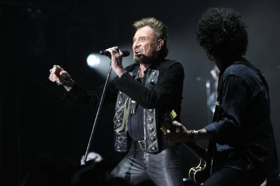 Johnny en concert dans le Var.