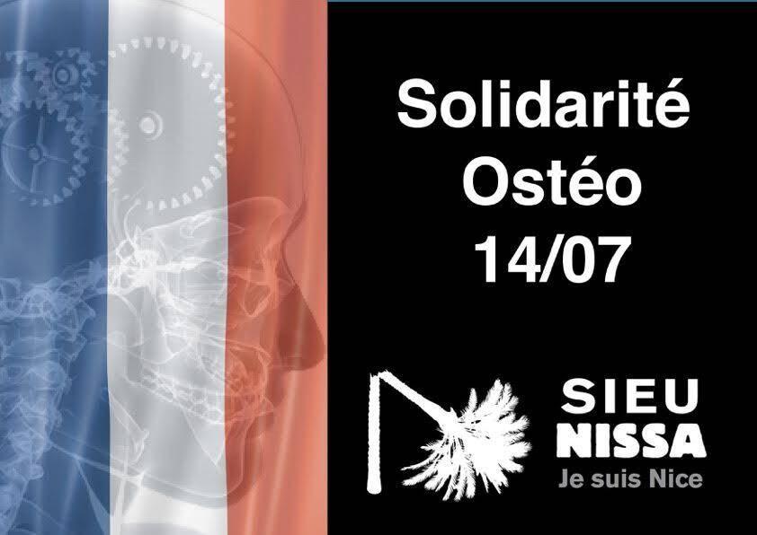 Solidarité des ostéopathes.