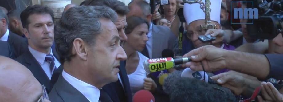 Nicolas Sarkozy, à Nice.