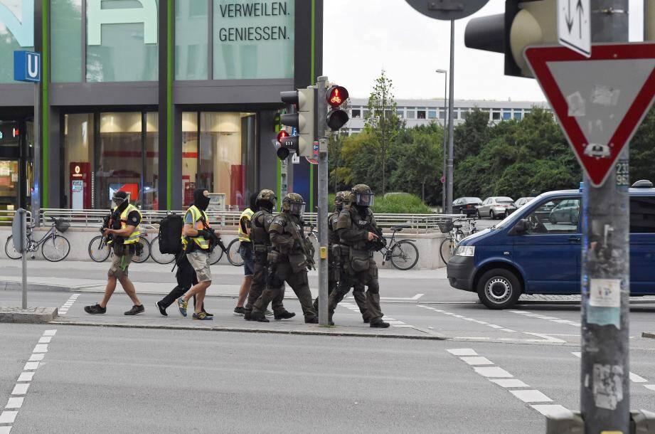 Les forces spéciales sont mobilisées à Munich.