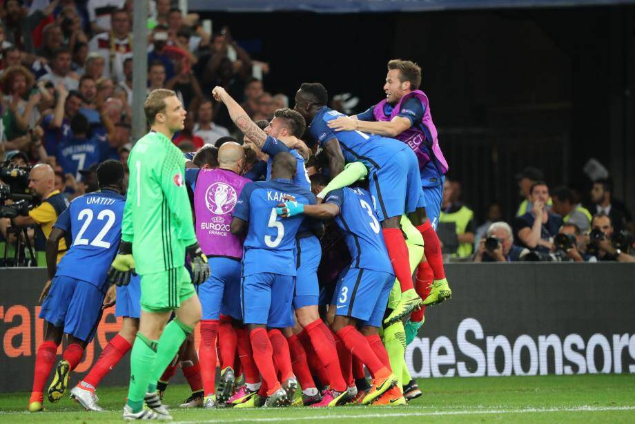 La France héroïque a battu l'Allemagne.
