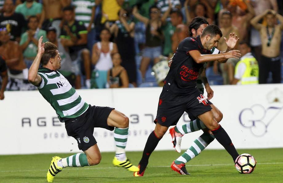 Eysseric était titulaire hier soir. Il sera suspendu contre Rennes dimanche prochain à l'Allianz Riviera.