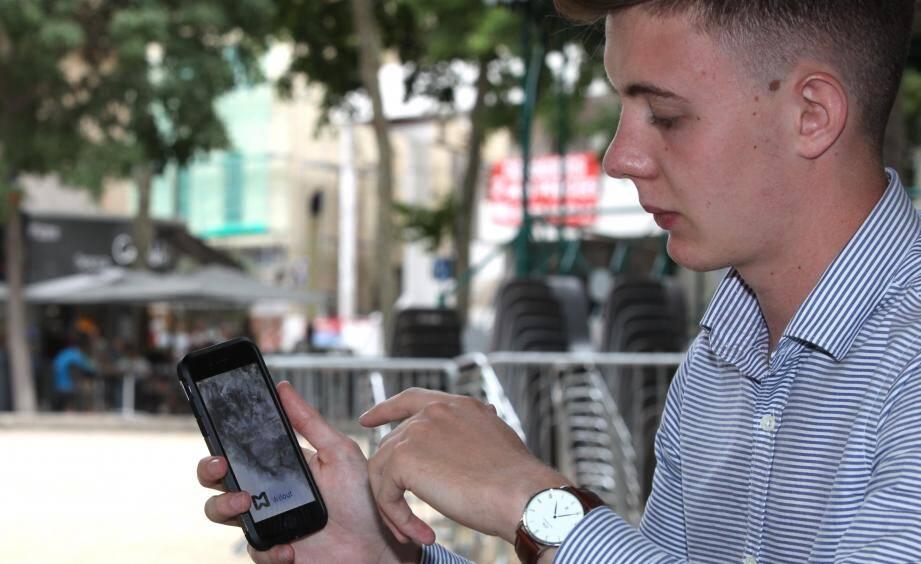 Illustration du lancement de l'appli pour mobile