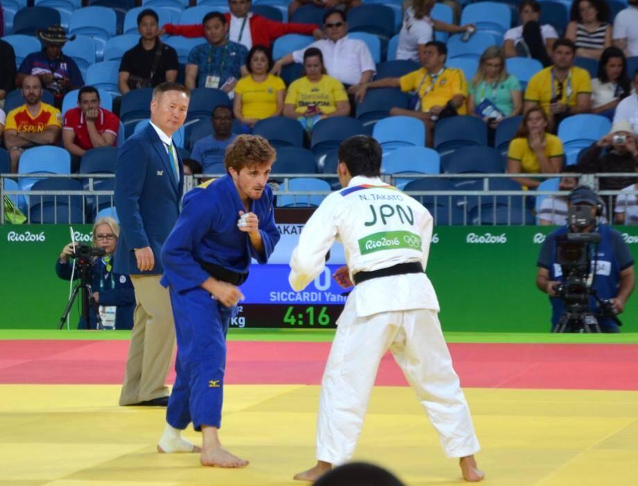 Adversaire de choix pour judoka monégasque avec le Japonais Takato qui finira médaille  de bronze.