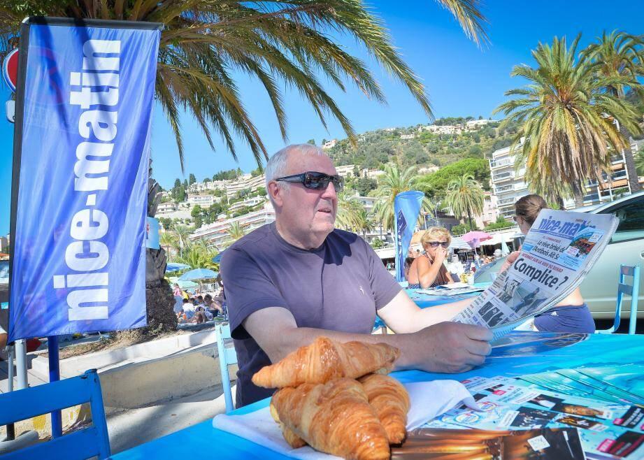 Jean-Paul, Lorrain d'origine : « On aime bien aller à la plage Rondelli entre 8 h 30 et 10 h lorsque les touristes n'y sont pas encore ».