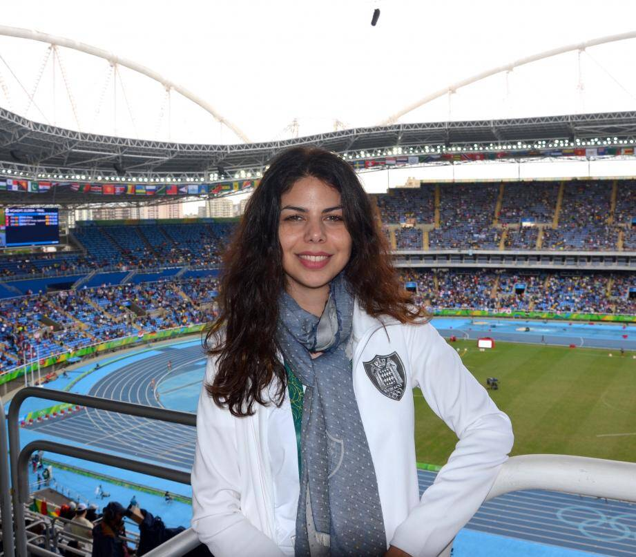 Lisa Debatty, ici au stade olympique d'athlétisme : « J'ai un amour inconditionnel pour Rio et le Brésil. »
