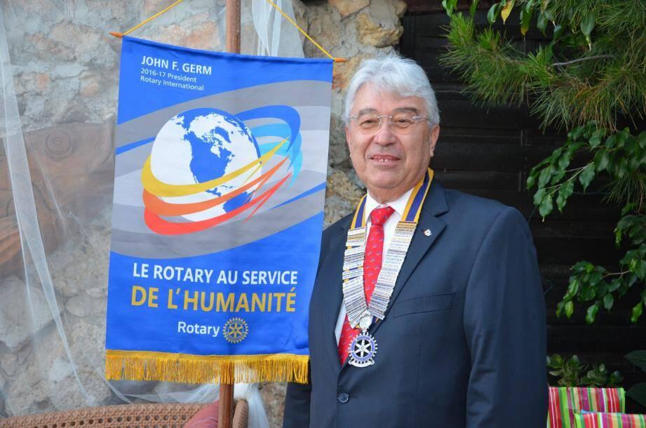 Alain Tournoud, nouveau président du Rotary Club de Beausoleil. En 2017, il fêtera ses trente ans au Club.