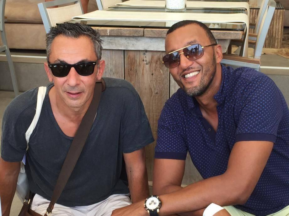 Stéphane Filone et son collaborateur en France, Abdelkrim Rguib.