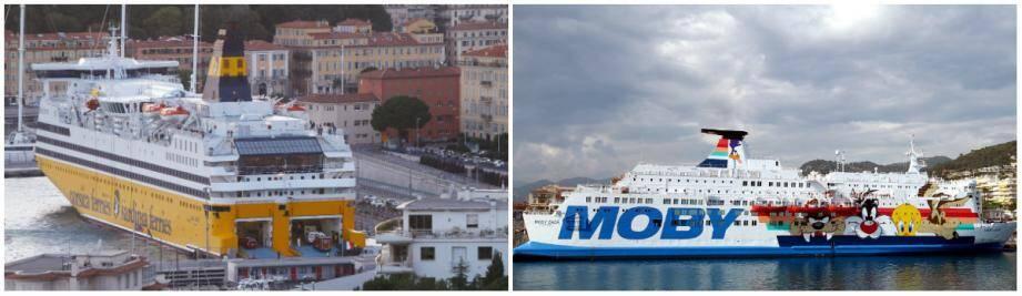 Lequel de Corsica Ferries et Moby est le plus attractif et propose des services alléchants pour de super vacances?