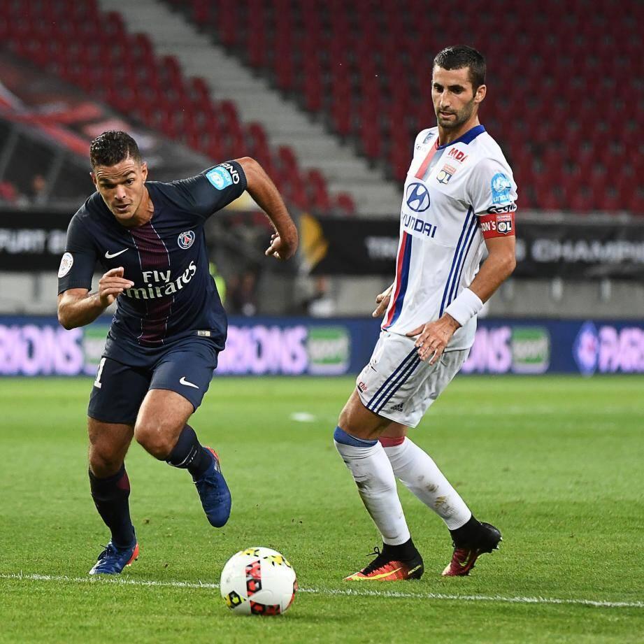 Hatem Ben Arfa lors du trophée des champions, face à Lyon.