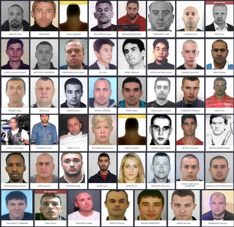 Les criminels les plus recherchés d'Europe.
