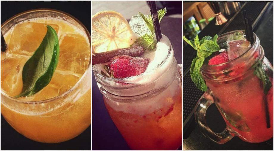 Certains cocktails du bar El Merkado rue Saint-François de Paule