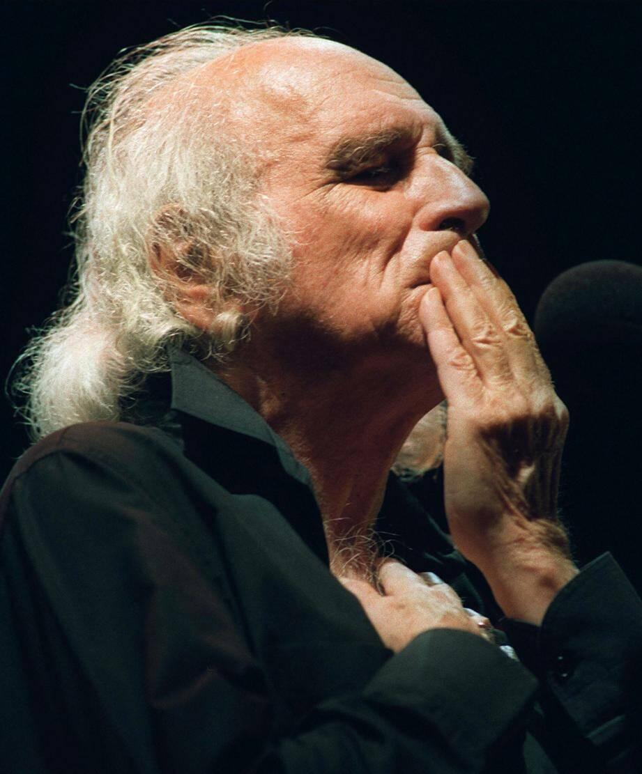 Léo Ferré en concert au théâtre de Montauban, le 7mai 1992.
