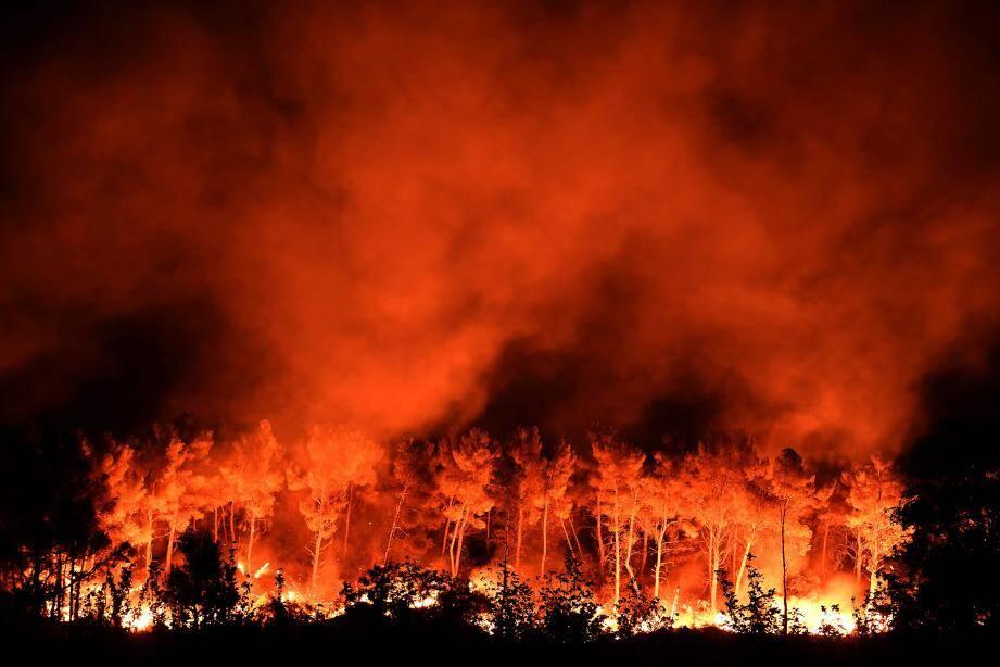 L'incendie aux Pennes-Mirabeau près de Marseille.