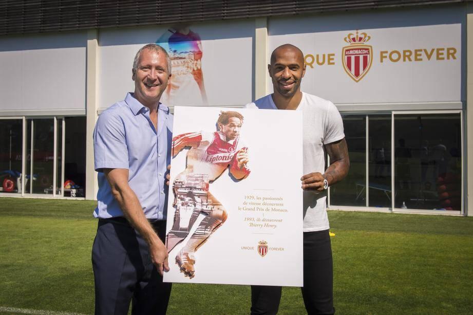 """Joueur de l'AS Monaco de 1994 à 1999, """"Titi"""" a notamment longuement échangé avec celui qui pourrait être son héritier, Kylian Mbappé."""