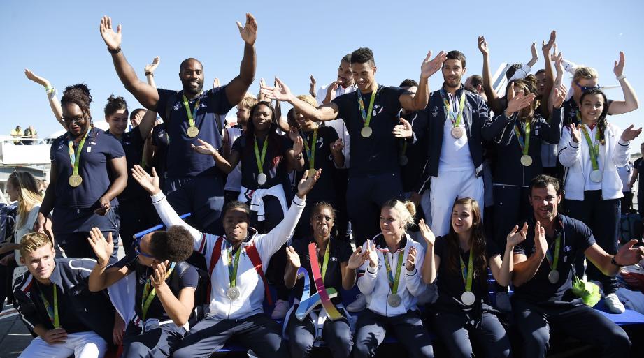 Les médaillés français de retour à Paris ce mardi.