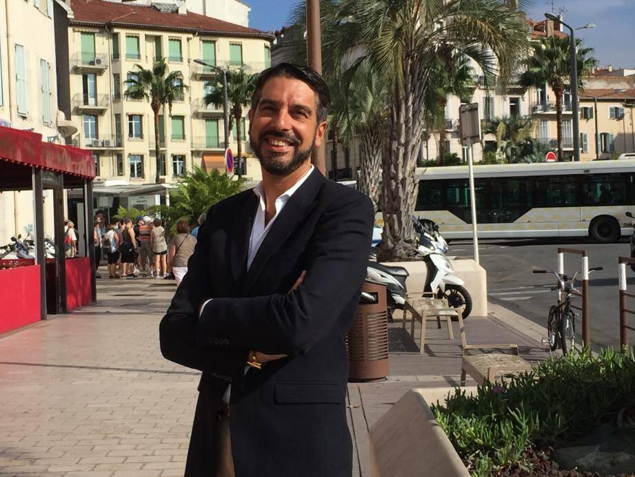 Emmanuel Voisin-Moncho, heureux président de Cannes Université.