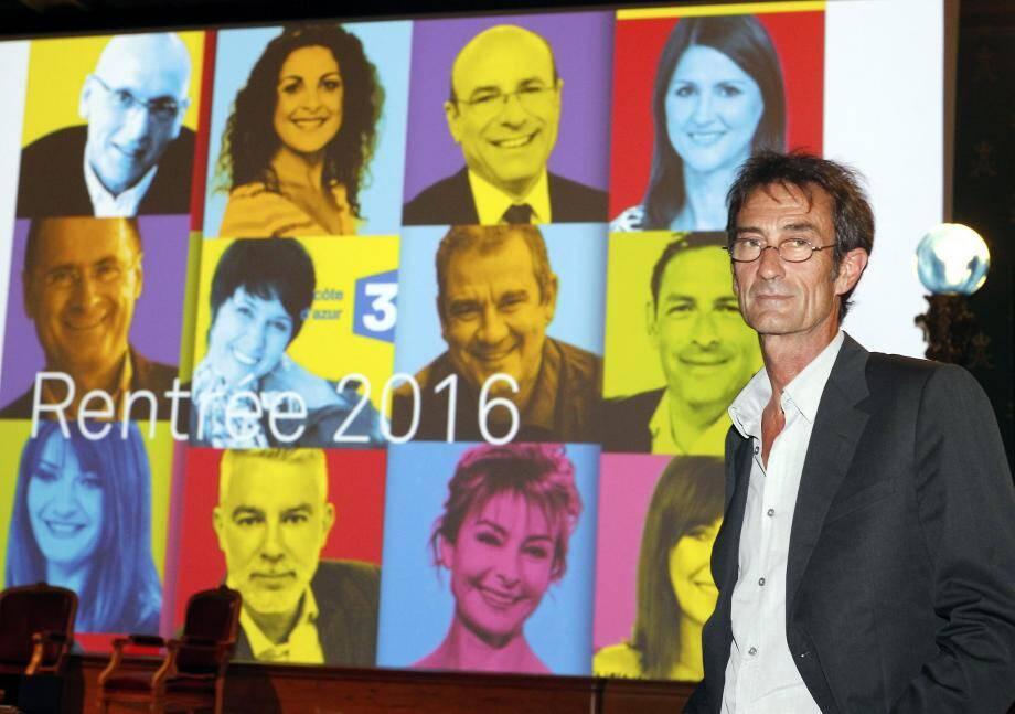 Gilles Machu, délégué régional, a annoncé un numéro spécial d'Enquêtes de Région consacré à l'attentat de Nice.(Ph. C. Dodergny)