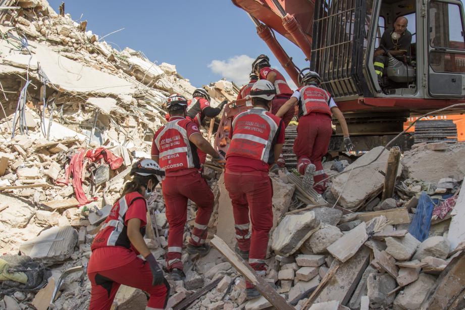 Plus de 500 bénévoles de la Croix-Rouge italienne sont mobilisés.