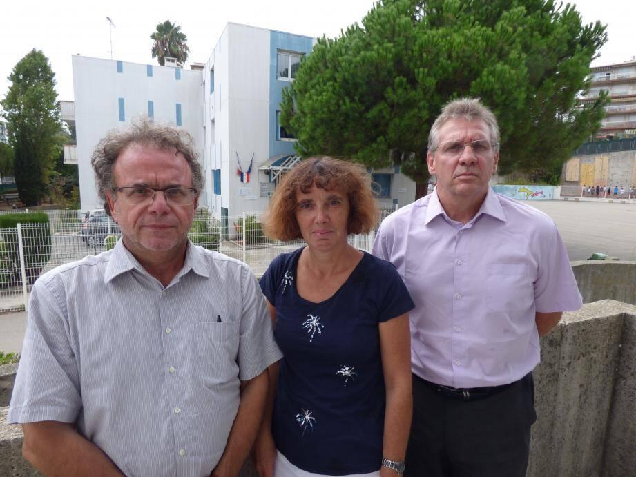 Daniel Barberi, Sylvie Pénicaut et Jacques Bacquet.