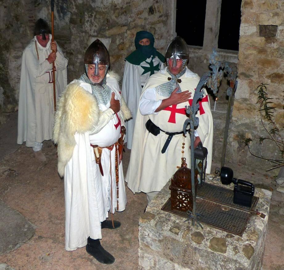 Cette année encore, au château, une immersion est possible dans le monde des Templiers.