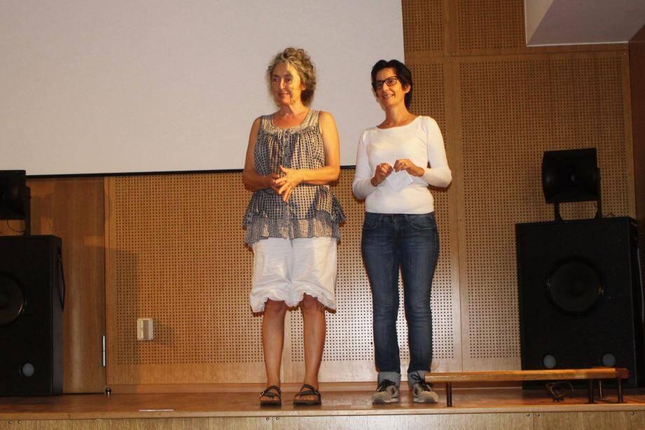 Cécile (à droite) et Jacqueline Lanteri de l'hôpital de jour, lors de la présentation du film.