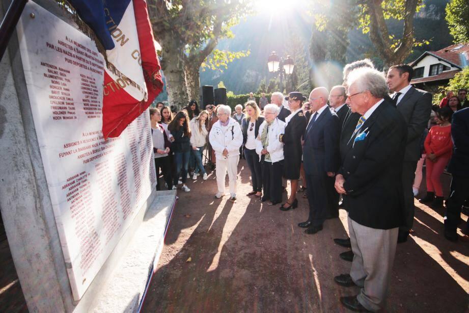 Deux stèles ont été inaugurées hier : l'une en mémoire des « Justes » qui ont sauvé des Juifs de la déportation.