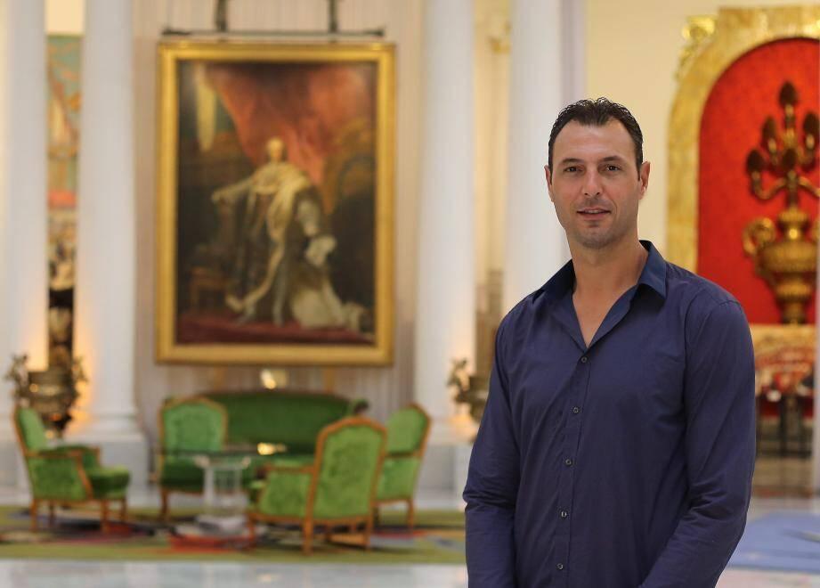 Jérôme Fernandez de passage dans les salons du Negresco.