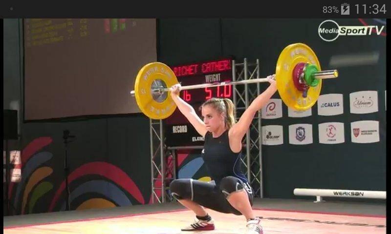 La villeneuvoise Catherine Riche à l'arraché lors des championnats d'Europe. (DR)