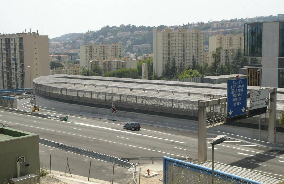 La sortie Nice Nord sur l'autoroute A8 (image d'illustration).