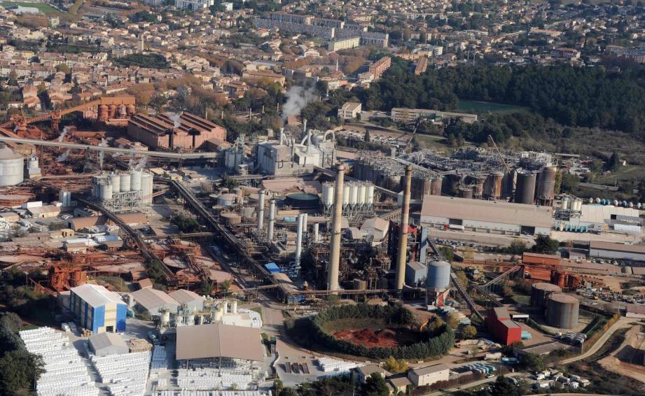 Le site de production d'alumine, à Gardanne.