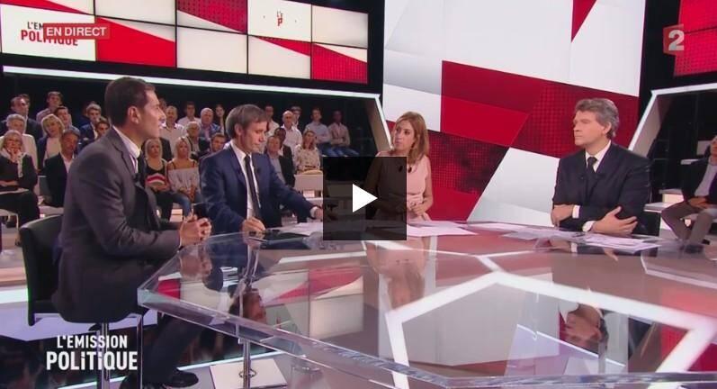 David Lisnard, maire de Cannes s'est confronté à Arnaud Montebourg, candidat de gauche à la présidentielle.