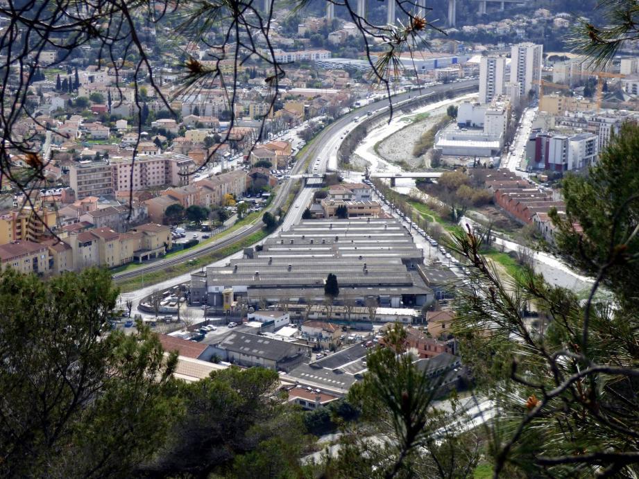 Vue générale de la ville de La Trinité.