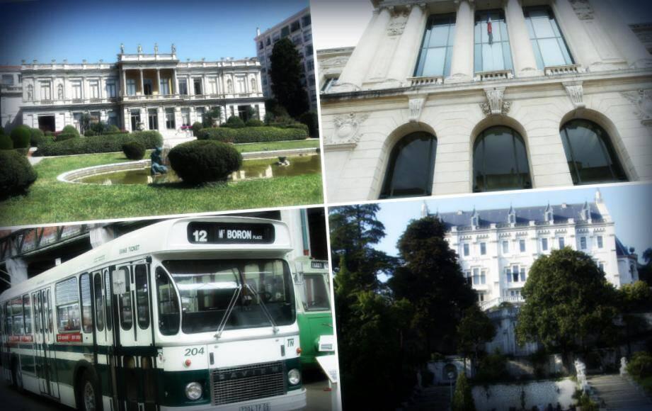 Palais de Justice, campus valrose, les anciens autobus et le palais de marbre vont vous faire (re)découvrir l'essence du patrimoine niçois