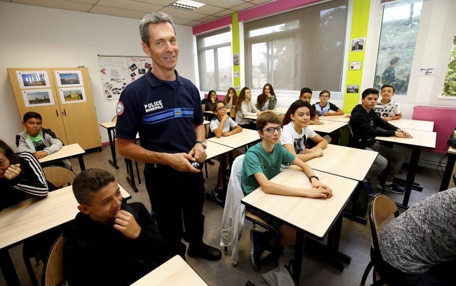 La police municipale a animé un atelier sur le thème de l'incivilité.
