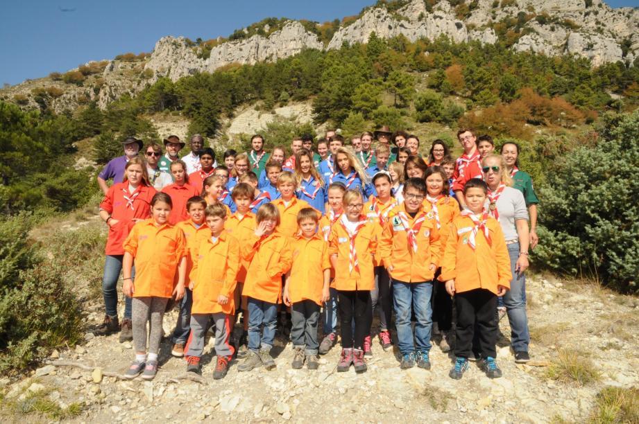 Les scouts ont fait leur rentrée ce week-end au Col de la Madone.