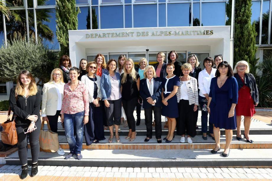 Vingt élues locales du Var et des Alpes-Maritimes étaient présentes pour ce premier événement.